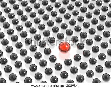 red in black - stock photo