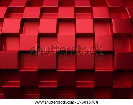 Red industrial metallic background with checkers and grid - stock photo