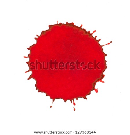 Red ink splash - stock photo
