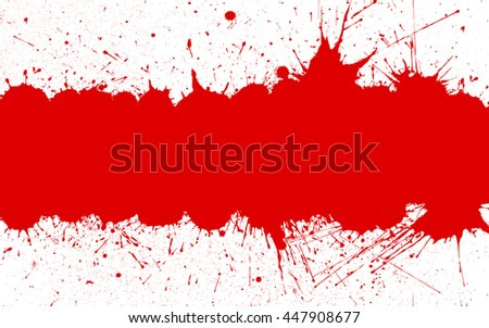 Red ink splashes with space for text over white. Bright Background for your designs, projects, promotional sales and other your projects. Just add your text