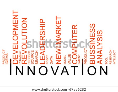 red innovation bar-code - stock photo