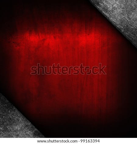 red iron plate - stock photo