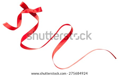 Red isolated ribbon with bow
