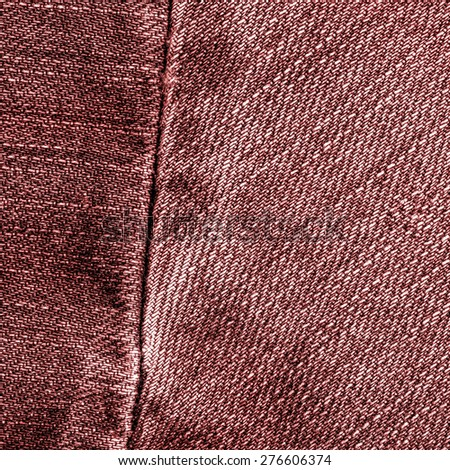 red jeans texture,seam - stock photo