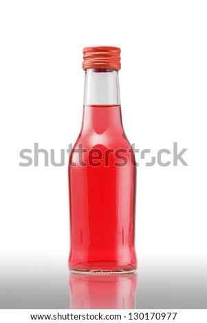 Red Juice bottle on white background (with clipping path)