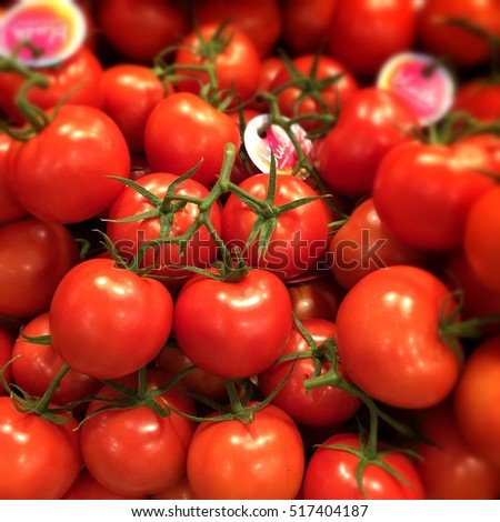 Red juicy delicious tomatoes
