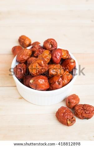 red jujube, Jujube, red date; Chinese date - stock photo