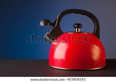 Red kettle.