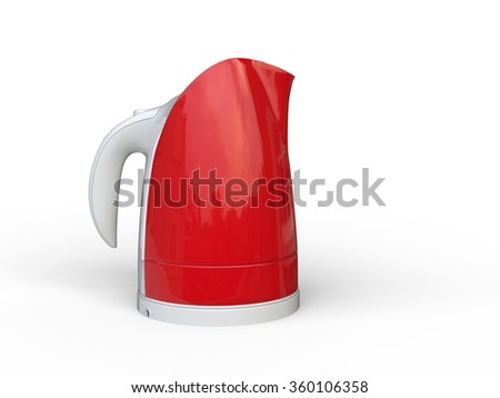 Red Kettle with white hand grip