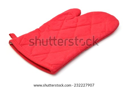 Red kitchen glove