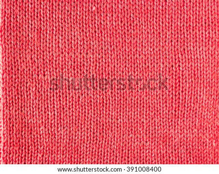 red knitted Jersey as a textile background - stock photo