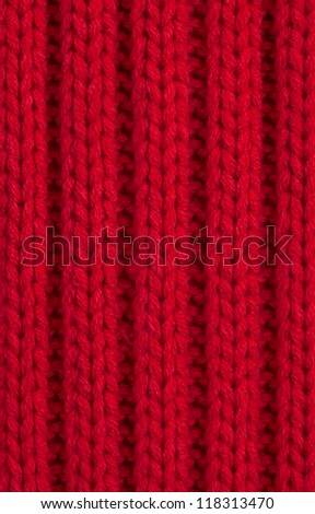 Red Knitted wool background, Full Frame - stock photo