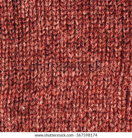 Red Knitted Wool Background./ Red Knitted Wool Background. - stock photo