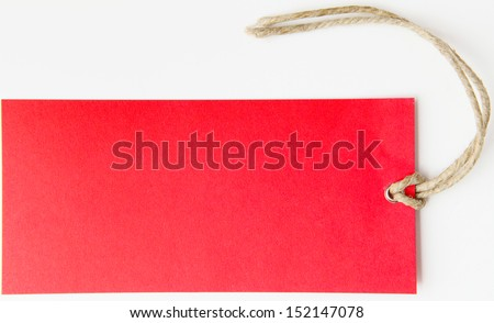 Red label isolated - stock photo