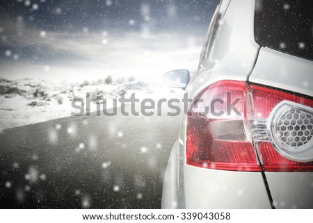 red lamp of car  - stock photo