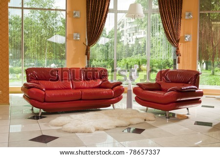 red leather furniture. see more on my page