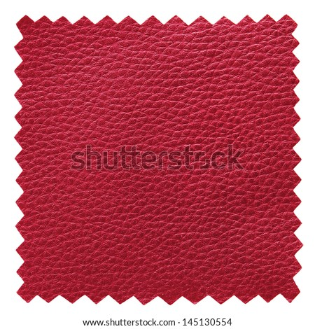 red leather samples texture - stock photo