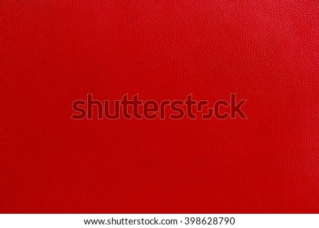 Red leather texture background - stock photo