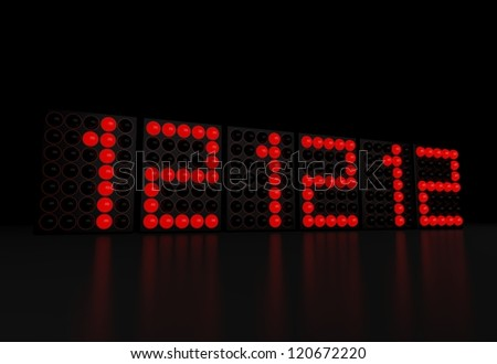 Red LED display - 12 12 12 - The last unique calendar date in this century