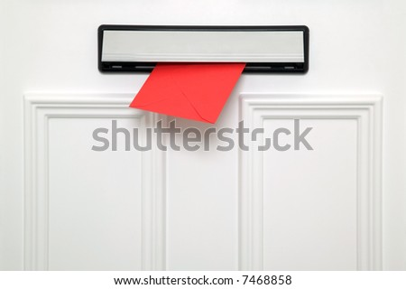 Red letter coming through a chrome letterbox on a white door. Could be a Valentines & Door Letterbox Stock Images Royalty-Free Images \u0026 Vectors ... Pezcame.Com