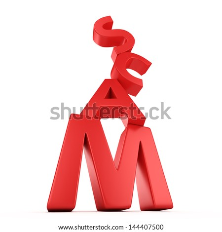 Red letters Scam falling down �¢?? concept of detected crime - stock photo
