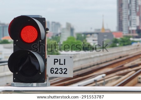 red light alarm sign