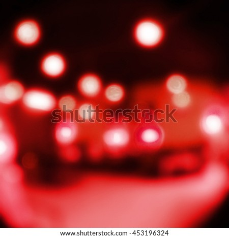 red Light festive background. Elegant abstract background with bokeh defocused lights.  - stock photo