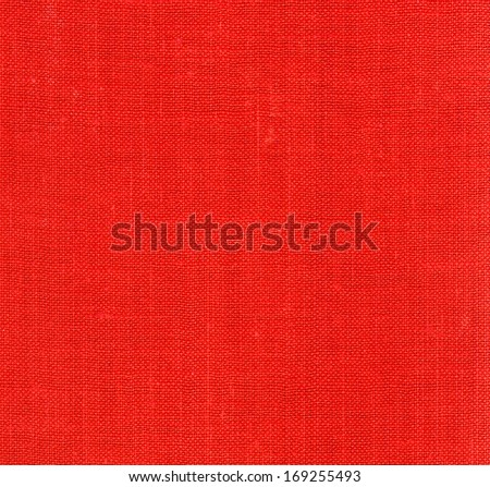 Red linen fabric - background