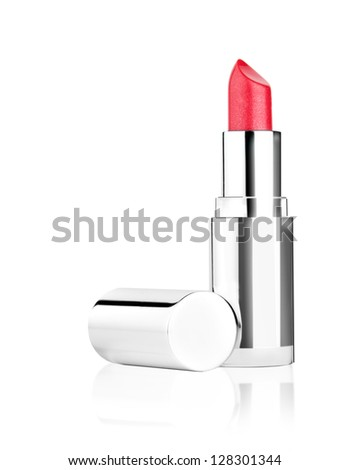 red lipstick isolated
