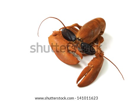 Red lobster with sunglasses