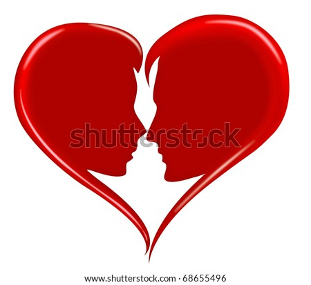 Red Love Heart Happy Valentines Day Stock Illustration 68655496