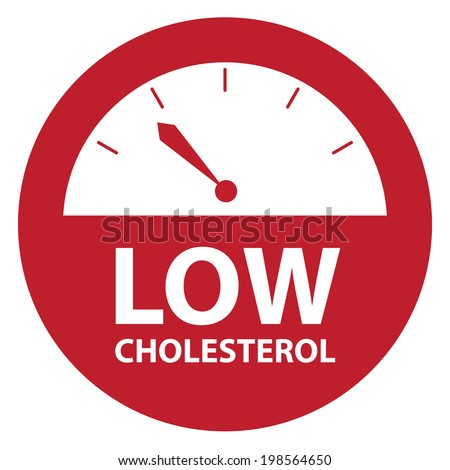 Red Low Cholesterol Bathroom Weight Scale Icon, Sign or Label Isolated on White Background - stock photo