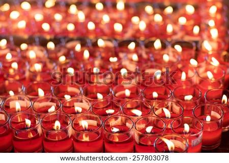 Red lucky candles - stock photo