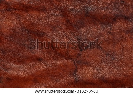 Red luxury natural leather texture background - stock photo