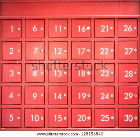 Red mail box - stock photo