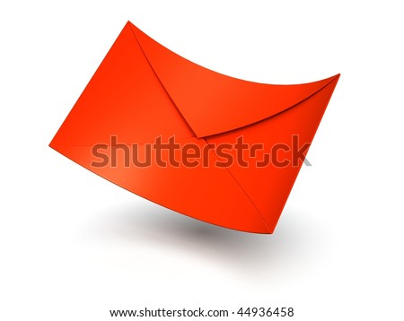 Red Mail Envelope