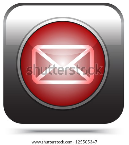 red mail icon on white,