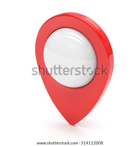 red map pointer isolated - stock photo