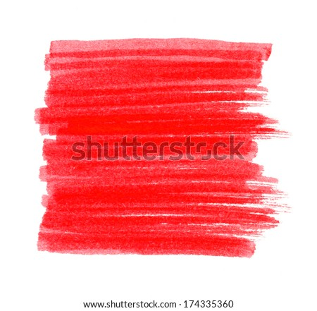 Red Marker Stain, raster illustration  - stock photo