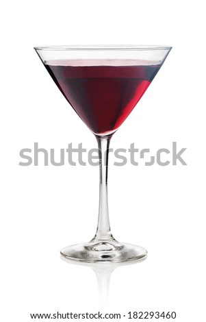 red Martini on a white background