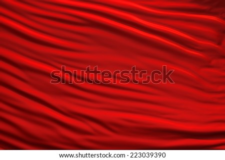 red material - stock photo
