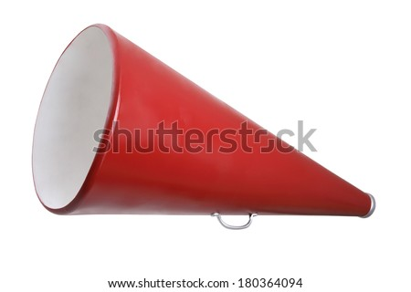 Red Megaphone - stock photo
