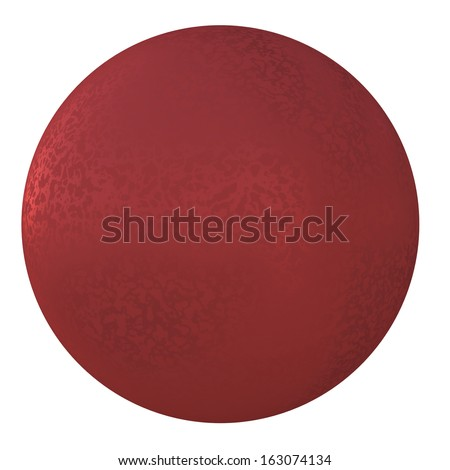 Red metal ball. Isolated render on white background