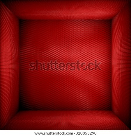 red metal space background - stock photo