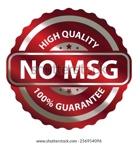 Red metallic no msg high quality 100 guarantee sticker sign badge icon