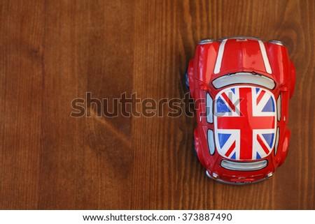 Red Mini Cooper model - stock photo