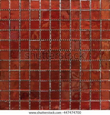 red mosaic tiles,pattern seamless for decoration - stock photo