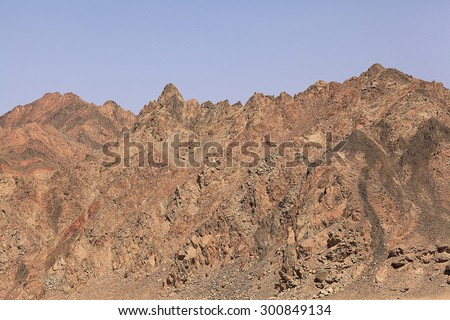 red mountains, rocks Egypt Sinai
