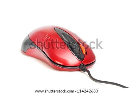 red mouse - stock photo