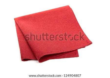 Red napkins isolated